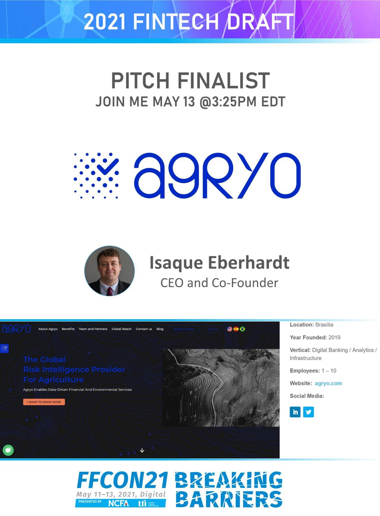 FFCON21 Pitch Finalist Agryo