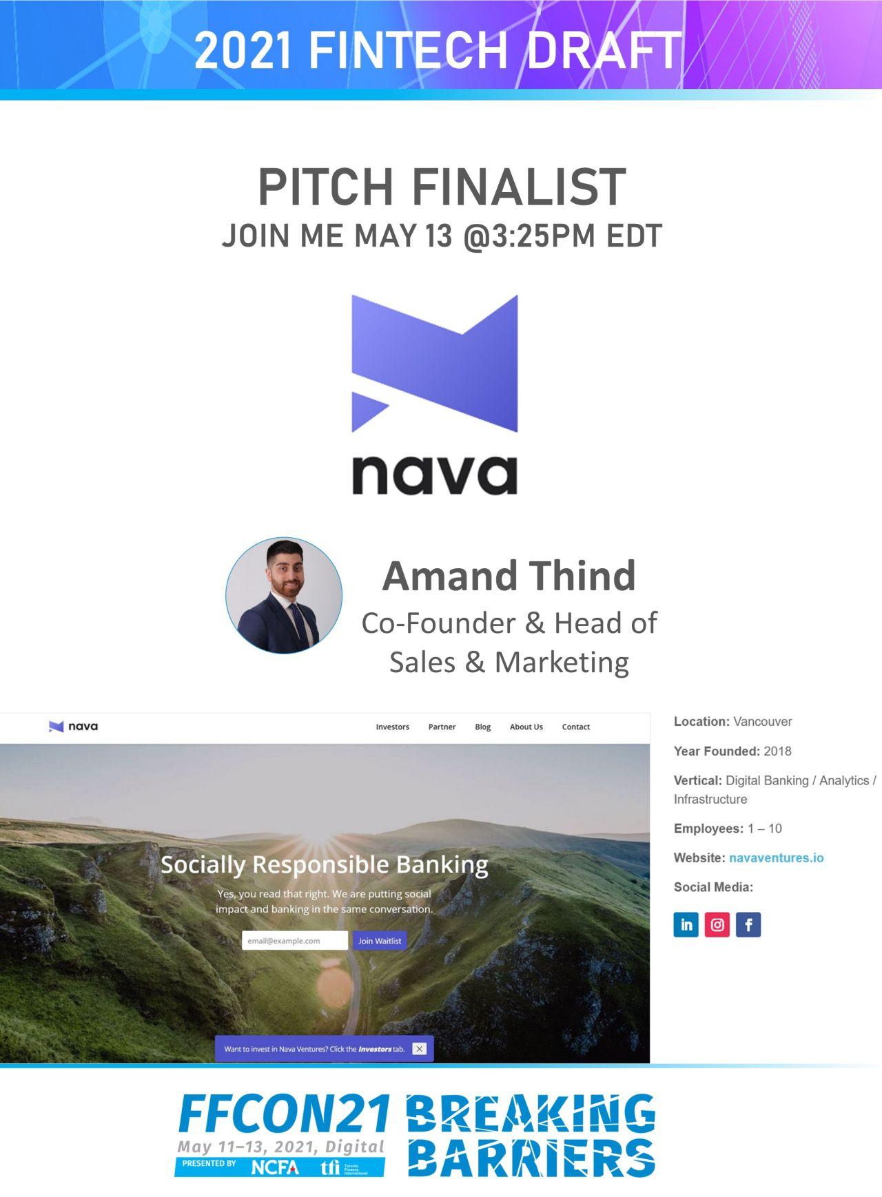 FFCON21 Pitch Finalist Nava
