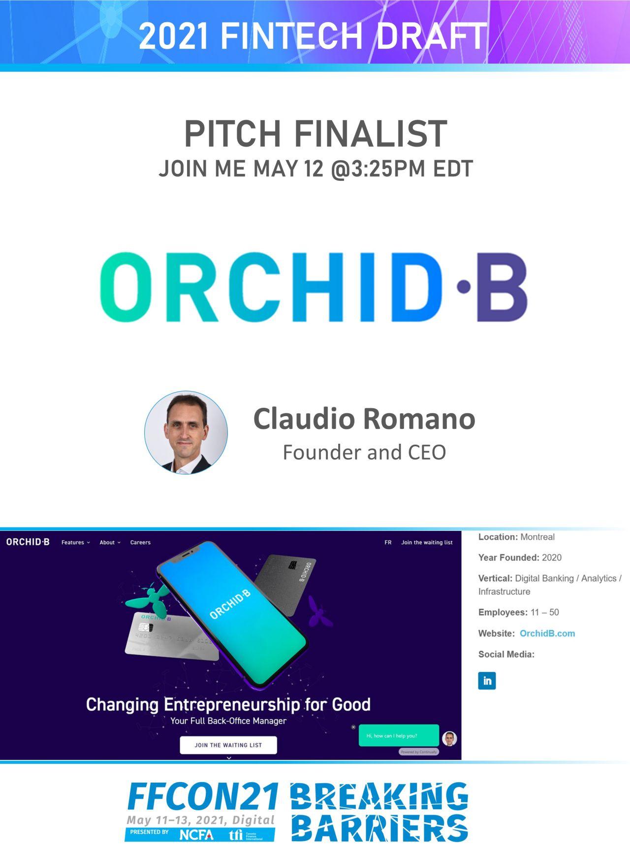 FFCON21 Pitch Finalist Orchid B