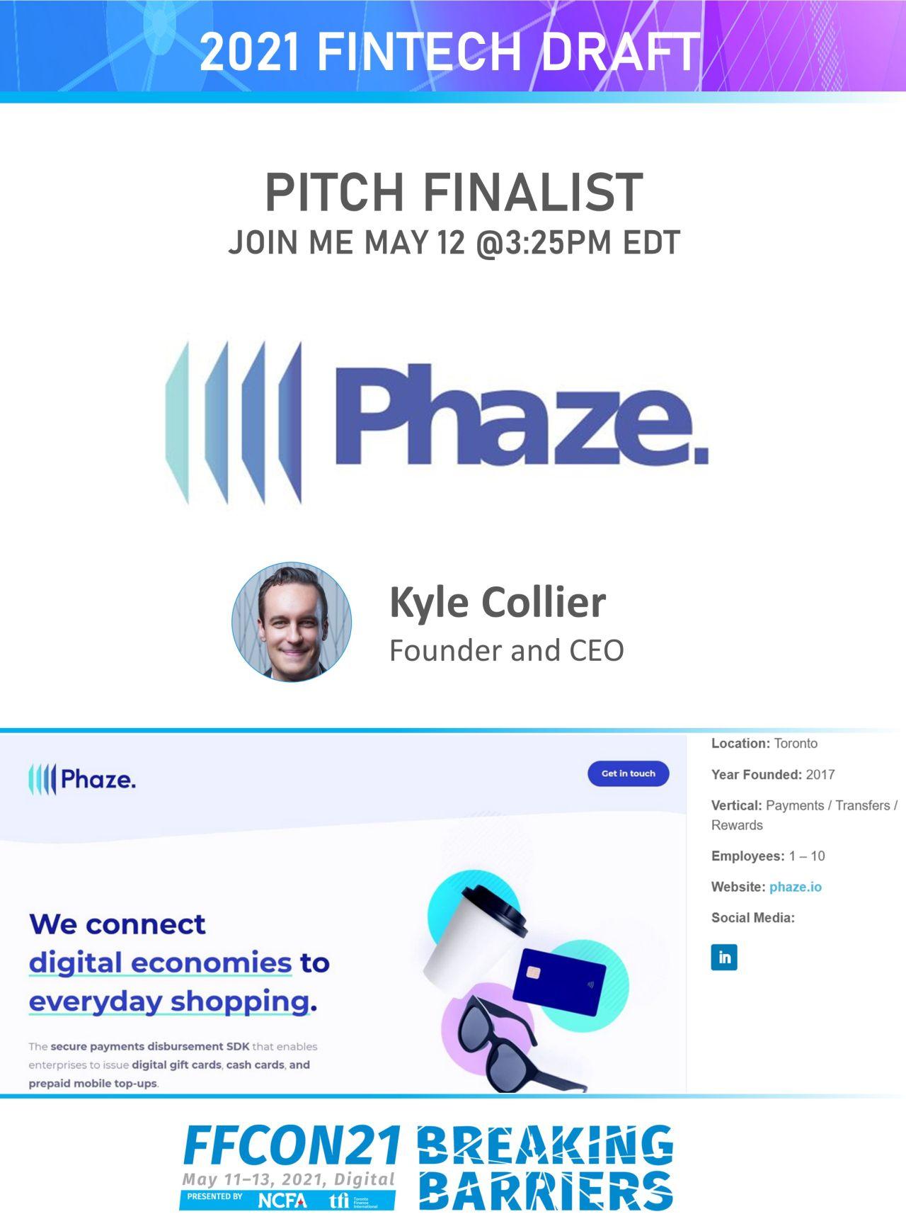 FFCON21 Pitch Finalist Phaze