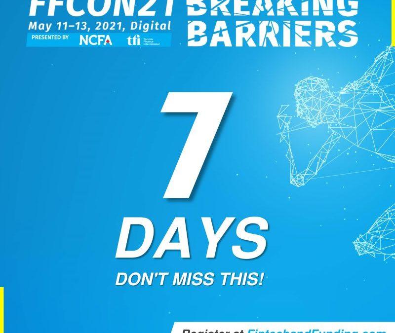 COUNTDOWN:  ONLY 7 DAYS UNTIL FFCON21!