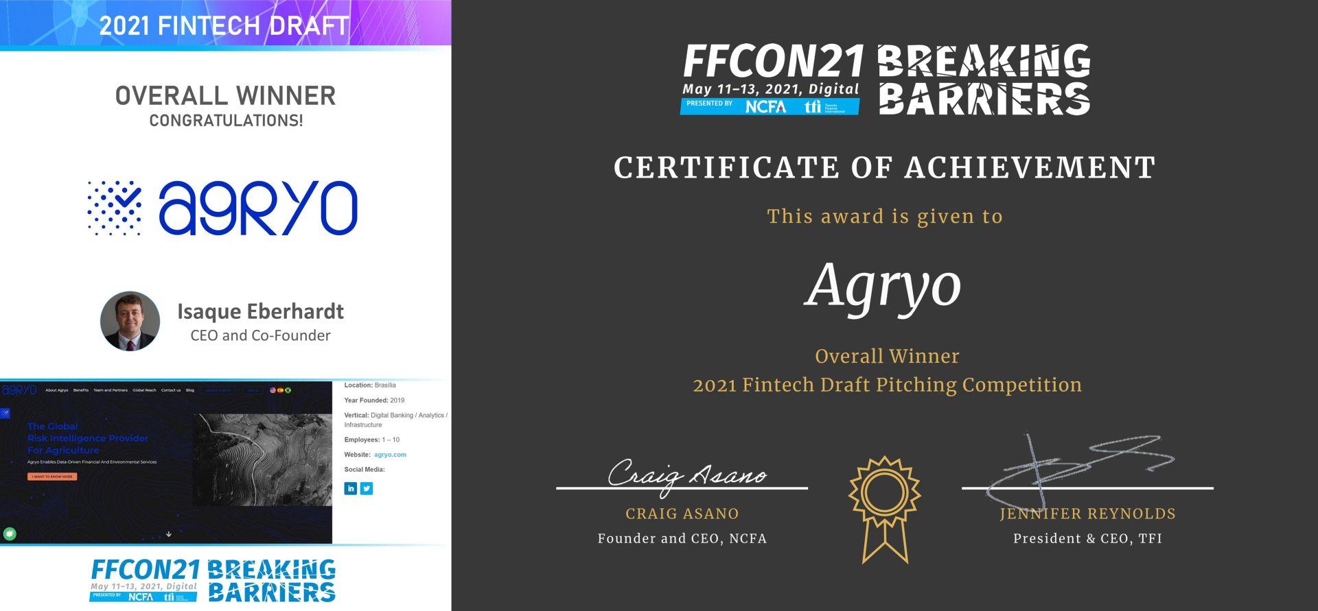 FFCON 2021 Fintech Draft Overall Winner - Agryo